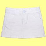 джинсовая юбка для девочки белая