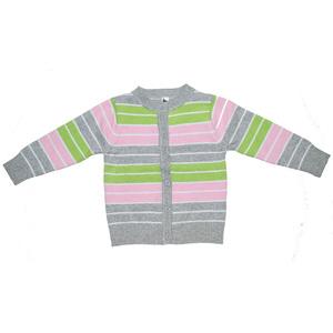 кофта вязанная полосатая для девочки