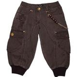 джинсовые бриджи, для полной девочки