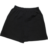 черные трикотажные шорты